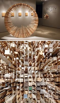 JAMES McNABB has crafted fine wooden designs using lasers and routers, but the band saw drove this stunning series of abstract city landscapes shaped into circles and in some cases patterned after furniture, from tables and shelves to chandeliers.