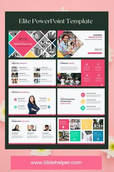 Download hundreds of re-design powerpoint template slides with this professional business PowerPoint template. Over 20 different color themes to match your brand color palette. #Powerpoint #template #business #presentation Company Presentation, Business Powerpoint Presentation, Presentation Slides, Professional Powerpoint Templates, Business Powerpoint Templates, Corporate Business, Creative Business, Creative Infographic, Color Themes