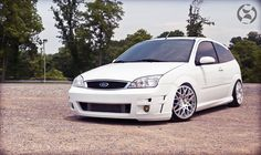 White #Ford #Focus mk1 SVT from USA Tuning and Big rims