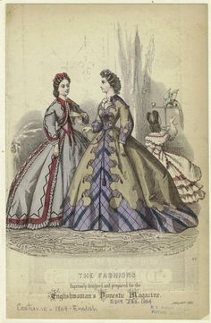 1864___ The Fashions Expressly Designed And Prepared For The Englishwoman'S Domestic Magazine.