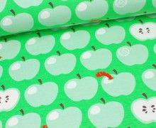 Jersey - Äpfel mit Wurm - Grün - Nancy Kers
