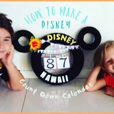 How to make a Disney Count Down Calendar