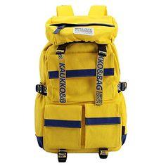 KAUKKO Womens Mens Nylon Backpack Multi Pockets Rucksack Trekking Backpack Travel/Outdoor/Sports/Camping/Hinking Bag - Yellow - 11.81*7.09*18.50inch(L*W*H) KAUKKO http://www.amazon.com/dp/B00XY1KF48/ref=cm_sw_r_pi_dp_O1wexb0Z1GZM6