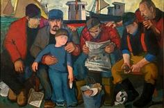 """Del Deo's 'The Shuckers."""" Art Review: Del Deo captures heart of #Provincetown."""