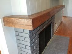 """""""L""""  distressed beam mantel shelf.   Call for quote   310 977 3218"""