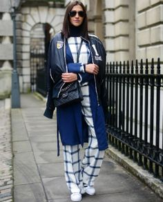 12 cool ideas on how to wear denim from LFW street style stars London Fashion Weeks, Stylish Street Style, London Street, Fashion Updates, Star Fashion, Singapore, Military Jacket, What To Wear, Winter Jackets