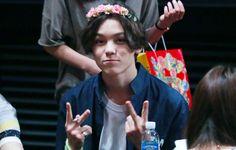 Vernon + flower crown Woozi, Vernon, Pop Group, Flower Crown, Seventeen, Fandoms, Kpop, My Love, Boys