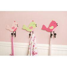 Audrey 3 Piece Birds Wall Hook Set