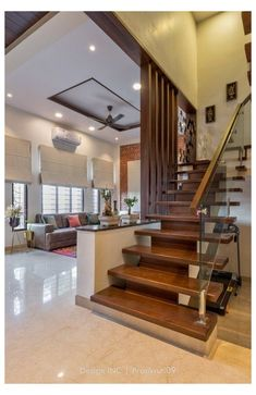 House Arch Design, Architect Design House, Home Stairs Design, Duplex House Design, Home Building Design, Small House Design, Staircase Interior Design, Interior Design Your Home, Modern Exterior House Designs