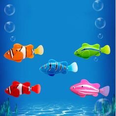 $4.26 - Cool 6 Color Funny Water Electronic Robo fish Activated Battery Power Robo Bath Toy fish Robotic Pet for Fishing Tank Decor Fish Toy - Buy it Now!