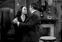 "morticia & gomez ""how long has it been since we last waltzed?"" ""oh Gomez, hours. The Addams Family Cast, Adams Family, Gomez And Morticia, Morticia Addams, Charles Addams, The Originals Show, Carolyn Jones, Victorian Goth, Old Shows"