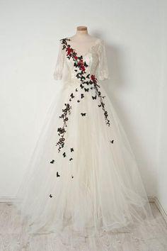 White v neck tulle lace long prom dress Lace Prom Dress, V-neck Prom Dress, Prom Dress White, Lace White Prom Dress, Prom Dress Long Prom Dresses Long Long Sleeve Evening Dresses, Prom Dresses Long With Sleeves, Prom Dresses With Sleeves, Bridesmaid Dresses, Dress Prom, Formal Dress, Party Dress, Evening Gowns With Sleeves, Wedding Dresses