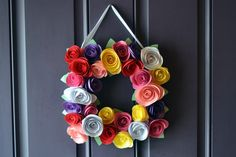 Paper Rose Wreath Class - AMG Design Studio