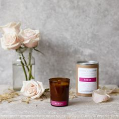 Hand Poured Botanical Candle - Roses