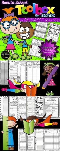Back to School:  These forms and documents will help classroom teachers stay organized and on track throughout the school year!  #teachersfollowteachers #teacherspayteachers #tpt #iteachtoo #teachers #education #learning