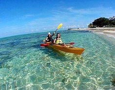 Kayaking in Coco Cay, Bahamas