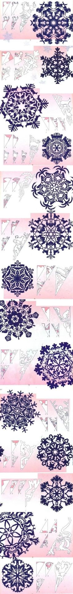 These are some super detailed animal themed snowflakes.