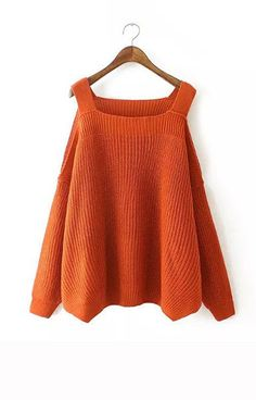 Knitted Off Shoulder Sweater – Trendy Road