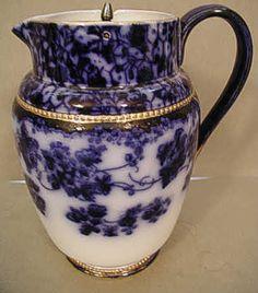 Flow Blue Carleton Ware Jug - Royal Mary Pattern Flow Blue China, Blue And White China, Love Blue, Blue Dishes, White Dishes, Carlton Ware, Blue Plates, Antique China, Fine Porcelain