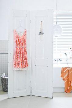 DIY Idea: Room divider of two old doors