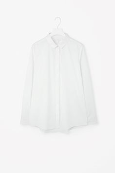 COS image 4 of Straight-fit cotton shirt in White