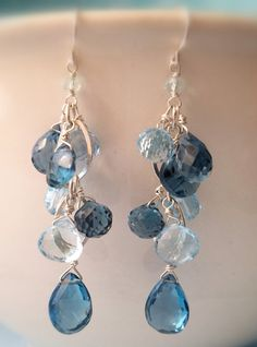 Faceted London And Swiss Blue Topa Sterling
