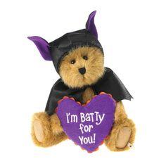 Boyds Halloween Bear Drake Batbeary as A Bat w I'M Batty for You Pillow New 11 | eBay