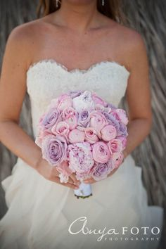 anyafoto.com, wedding bouquet, bridal bouquet, pink bouquet, purple bouquet, pastel bouquet, peony, roses, peony and rose bouquet