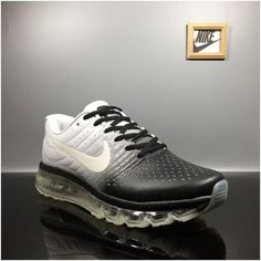 Nike Air Max+2017 Mens Basketball Shoes Black white3