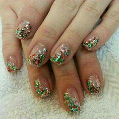 Imagen de glitter, nails, and christmas nails