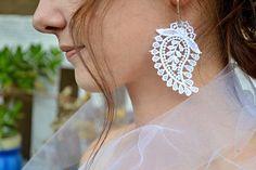 Wedding Dress, Diamond Earrings, Jewelry, Fashion, Bride Groom Dress, Moda, Bridal Gown, Jewlery, Jewerly