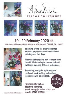 Workshops for artists in Cambridge. Tutored by world-renowned professional artists, workshops cater for all levels of experience. Teaching Style, Painting Workshop, Watercolor Portraits, Simple Shapes, Master Class, Still Life, Mixed Media, Floral, Flowers