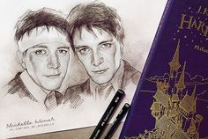 Fred and George Weasley sketch by Michelle-Winer on DeviantArt – - Site Today Harry Potter Kunst, Harry Potter Sketch, Harry Potter Artwork, Harry Potter Drawings, Harry Potter Decor, Harry Potter Characters, Harry Potter Fandom, Welcome To Hogwarts, Weasley Twins