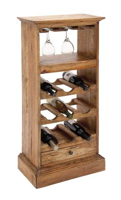 Wooden Wine Holder, Wood Wine Racks, Wine Bottle Rack, Bottle Art, Woodworking Projects, Diy Projects, Wine Table, Wine Refrigerator, Hanging Racks