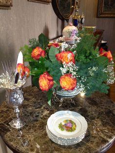 Tea time - love the flower arrangement