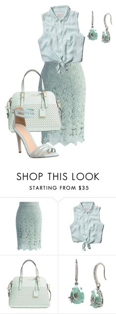 """""""mint"""" by srlangley ❤ liked on Polyvore featuring Chicwish, Abercrombie & Fitch, Kate Spade, Betsey Johnson and Office"""