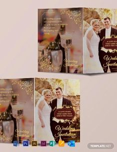 Instantly Download Free Wedding Invitation Bifold Brochure Template, Sample & Example in Microsoft Word (DOC), Adobe Photoshop (PSD), Adobe InDesign (INDD & IDML), Apple Pages, Microsoft Publisher, Adobe Illustrator (AI) Format. Available in (US) 8.5x11 inches + Bleed. Quickly Customize. Easily Editable & Printable.