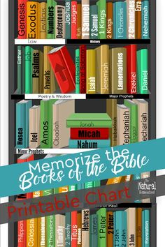 Get this awesome Books of the Bible printable chart! Homeschool Kindergarten, Homeschool Curriculum, Kids Learning Activities, Teaching Kids, Parenting Books, Parenting 101, Character Activities, How To Start Homeschooling, Bible For Kids
