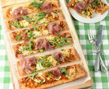 Courgette pizza met hüttenkäse