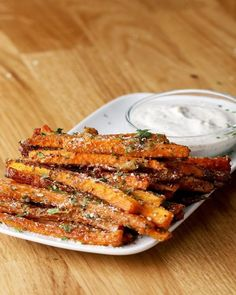 """Carrot fries are mega easy to prepare and delicious .-Möhren-""""Pommes"""" sind mega einfach zuzubereiten und voll lecker Carrot fries are mega easy to prepare and delicious - Healthy Food Recipes, Healthy Snacks, Vegetarian Recipes, Healthy Eating, Cooking Recipes, Healthy Fries, Delicious Recipes, Recipe Tasty, Salad Recipes"""