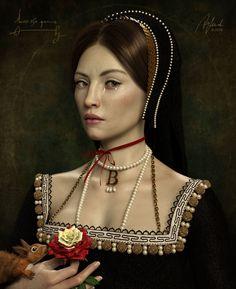 Anne B. by Enchanted-April on DeviantArt Anne B. by Enchanted-April on DeviantArt Anne Boleyn Death, Anne Boleyn Tudors, Asian History, African American History, British History, Fanart, Tudor Rose Tattoos, Mode Renaissance, Tudor Fashion