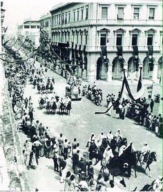Parade for king idris in tripoli on the occasion of the declaration of