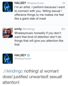 Truth!! I saw Halsey at the Imagine Dragons concert, she's pretty cool :)
