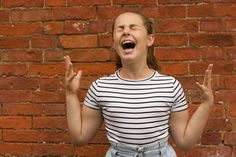 woman wearing black and white striped shirt Practising for her singing exam in the garden. A performer in the making. Singing School, Zen, Healthcare News, Singing Lessons, All About Music, Low Self Esteem, Easy Workouts, Wearing Black, Hot Topic