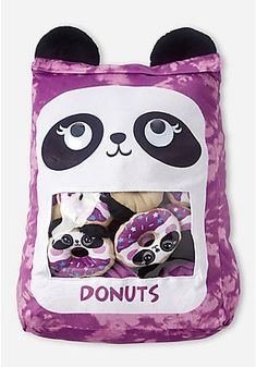 Justice is your one-stop-shop for on-trend styles in tween girls clothing & accessories. Shop our Panda Donut Scented Jumbo Pocket Pillow - DO NOT SELL . Floral Pillows, Decorative Pillows, Yummy World, Latest Cartoons, Food Pillows, Decorative Pebbles, Buy Gift Cards, Bed In A Bag, Tween Girls