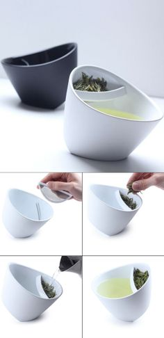 Tilting tea cup with infuser  ..want it lol