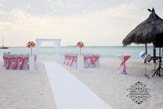 A gorgeous setup at Radisson Aruba Resort with steelpan ready to play tropical beats.