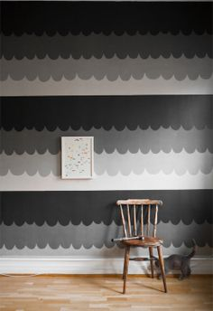 "The wallpaper Scallops, design Klara Bothén in the collection ""Curated by Fine Little Day"". A collaboration with Swedish Photowall"