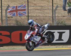 Carlos Checa doing a stoppy on his Ducati 1198R World Superbike
