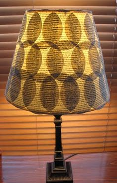 Lampshade DIY from old book pages - cute!